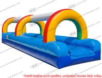 adult slip n slide - Sky blue with rainbow arch inflatable slip n slide for adult