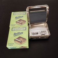 Wholesale Automatic Tobacco Roller Box Cigarette Roll Rolling Machine Stainless Steel Case Metal box size mm with retail box fashion