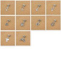 anchor jewellry - Mix Anchors Style Big Hole Loose Space Beads Charms Antique Silver Pendants for DIY Bracelet Necklace Jewelry women jewellry DK008