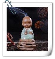 Wholesale 2016 little monk chanting incense censer ceramic incense incense incense sandalwood incense celadon