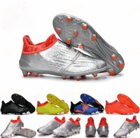 Wholesale 2016 Newest Soccer Shoes X Purechaos Firm Ground Cleats Football Boots Botas De Futbol High Tops Soccer Cleats FG AG