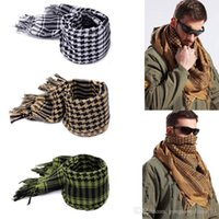 arab fashion - 2016 Military Airsoft Tactical Arab Shemagh Kafiya Scarf Mask Coyote For Gift