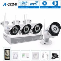 Wholesale Authentic A ZONE CH P NVR Wireless CCTV Security Camera Kit System Four TVL Megapixel Weatherproof Wifi IP Camera Kit