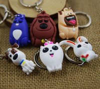 Wholesale Ruanjiao Keychain The Secret Life of Pets Snowball Gidget Action Figure Toys Cute key chain kids Christmas gift truelovewangwu