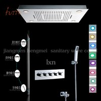 bath shower fittings - Hot sell taps and bathroom fittings mm remote control color change embeded ceiling mounted bath shower mixer set
