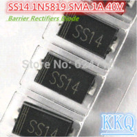 Wholesale SS14 N5819 IN5819 SMA DO AC A V Barrier Rectifiers Diode rectifier plating