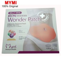 belly fat cream - 5Pcs MYMI Wonder Slimming Patch Belly Abdomen Weight Loss Fat burning Slim Patch Cream Navel Stick Efficacy Strong C067