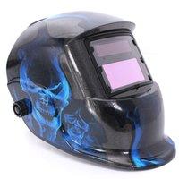 arc solar - Blue Skull Solar Welder Mask Auto Darkening Welding Helmet Arc Tig Mig Grinding MAC_104