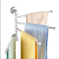 Wholesale Wall Mounted Aluminum Bath Towel Holder Swivel Bathroom Rack Rail Hanger Brand New