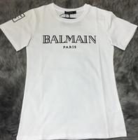 Wholesale Men s Balmain cotton t shirt Balmain Logo Tee Fashion Mens short sleeve man balmain top for summer