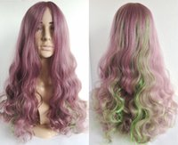 american makeup brands - New brand quot synthetic hair wigs for purple green women heat resistant african american wigs cosplay lolita wig mac makeup