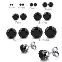 Wholesale Popular fashion jewelry Ladies men s black jhumka earrings zircon stud earrings pieces pairs With DHL E1009