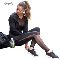Wholesale Vertvie Women Yoga Pants Sports Leggings Tight Slimming Workout Legging Pant Fitness Clothing Running Gym Clothes Ropa Deportiva