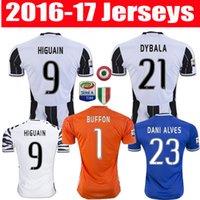 Wholesale top thai quality juventus jerseys HIGUAIN Marchisio DYBALA soccer uniforms BONUCCI football shirts