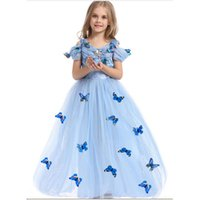 Wholesale Cinderella Princess Skirt Childrens Kids Costumes CFL Cute Girl s Dancing Dresses Fancy Skirts for Christmas Day T002
