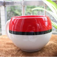 Wholesale New HOT Cartoon Poke Kitchen Dining Bar Mugs Cup Movie Anime Character Monster Pocket Water Milk Coffee Pottery Drinkware Cups With Boxes