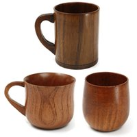 Wholesale Noverty Retro style ml ml Wooden Cup Primitive Handmade Natural Wood Coffee Tea Beer Wine Juice Milk Water Mug