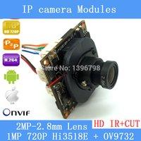 Wholesale 720P Mini IP Camera Module Combo Kit Hi3518E OV9732 upgrade higher resolution MP CMOS mm MP lens Tail Cable