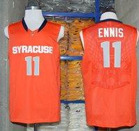 Wholesale College Baskeball Jerseys Tyler Ennis Syracuse Orange for Men Throwback Jersey white stiched Free Drop Ship MIX ORDER Sunnee