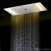 Wholesale multi function mm rainfall waterfall mist fall and water column embeded ceiling mounted led rain shower head