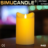 Wholesale Battery operated candle with moving flame and timer function for home decoration party and Christmas gifts