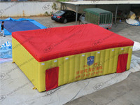 Wholesale promotional Nylon inflatable fire drill tent Large inflatable firefighting tent price