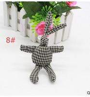 arts doll - cartoon art rabbit doll doll necklace hair accessories DIY manual long feet bunny doll plush toy doll