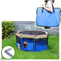 Wholesale 4 color quot Soft Pet Playpen Exercise Puppy Dog Fence Cat Kennel Folding Crate
