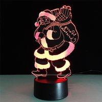 acrylic led furniture - 3D Lamp Remote Control Christmas best gift for children Acrylic Table Night light Furniture Decorative colorful color change household