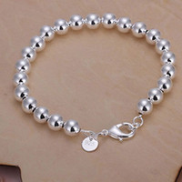 beaded fashion jewelry set - H126 hot sale new Fashion new Brand women sterling silver jewelry bead bracelet hot sale silver charm chain bracele9