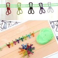 Wholesale New Arrive Colorful Metal Binder Clips Paper Clip Bag Clip Hanger Sealer Color Random cm