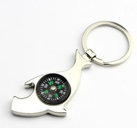 best car compass - Compass Key Ring Shark Beer Bottle Opener Metal Keychains Multifunction Creative Bag Car key holder Christmas Valentines Day Gifts best