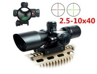 Wholesale 2 x40 Tactical Luneta Para Rifle Scope Red Laser Dual illuminated Mil dot Rail Mount Airsoft Riflescope Telescopic Sight