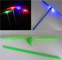 bamboo helicopter - Led toy Bamboo dragonfly Led flashing toys LED Flying Lights toys flying helicopter luminous dragonfly for children