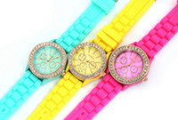 best battery type - Best fashion Korean type food grade silicone watches candy students wrist watches jelly quartz watches