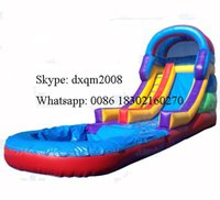 Wholesale 2016 Factory Price High quality Low price Inflatable water slide water game inflatable slide with a pool for sale