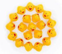 Wholesale Small Baby Bath Water Duck Toy B B Sounds Mini Yellow Rubber Ducks Bath Duck Toy Children Swiming Beach Gifts