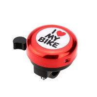 Wholesale Colorful Funny Cute I Love My Bike Printed Bicycle Bell Bicycle Accessories Bike Alarm Warning Ring Bell for Children bicicleta Y1338