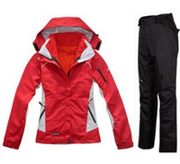 best winter ski jackets - mountaineering jacket Fashion women best quality Ski suits jacket trousers set winter warm outdoor jacket and pants set Outdoor sports
