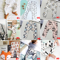 autumn color wheel - 14 Design kids INS pp pants fashion baby toddlers boy s girl s animal fox tent wheels geometric figure pants trousers Leggings