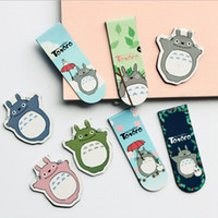 Wholesale 2pcs pack NEW Sweet Japan Cartoon Totoro series Magnetic Bookmarks set Office School Fashion Gift