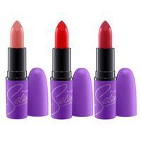 Wholesale 2016 M C Selena New Matte Lipstick colors Cosmetics Androgyny Matte Velour makeup lips Cosmetics Nourish Lip Balm free ship