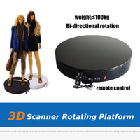 Wholesale New Black White Color D Scanner Rotation Platform MDF D Scanning Table For Whole Body Scanning