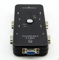 Wholesale Manual KVM Switch Box Port USB Plus VGA USB Cables to Control up to Computers