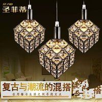 Wholesale 2016 AAA Hot Dining room lamp LED dining pendant lamp three crystal glass lamp glass lamp glass lamp