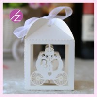 Wholesale 50pcs Radom color Favor Holders Happy Wedding Card Pumpkin Car Design Decoration Trendy Style Favor Candy Box Mini Cake Gift Package B23