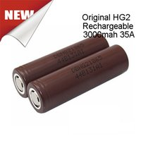 Wholesale Original LGHG2 Battery mah A Max Lithium Rechargeable Batteries PK VTC5 VTC4 HG2 HE4 HE2 MJ1 Fedex