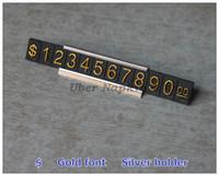 Wholesale Gold ABS Metal Dollar Price Display Plastic Goods Price Tag sets
