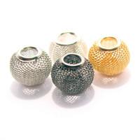 al por mayor colgante de collar de perlas sueltas-DIY encanta granos grandes flojos del agujero pandora estilo de los granos para el collar europeo de la pulsera pendiente de los accesorios de la joyería