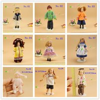 Wholesale 1 Scale Dollhouse Miniatures Dolls Human Figures Victorian Lady doll